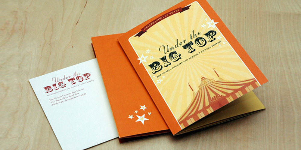 Under the Big Top invitation by Muffinman Studios