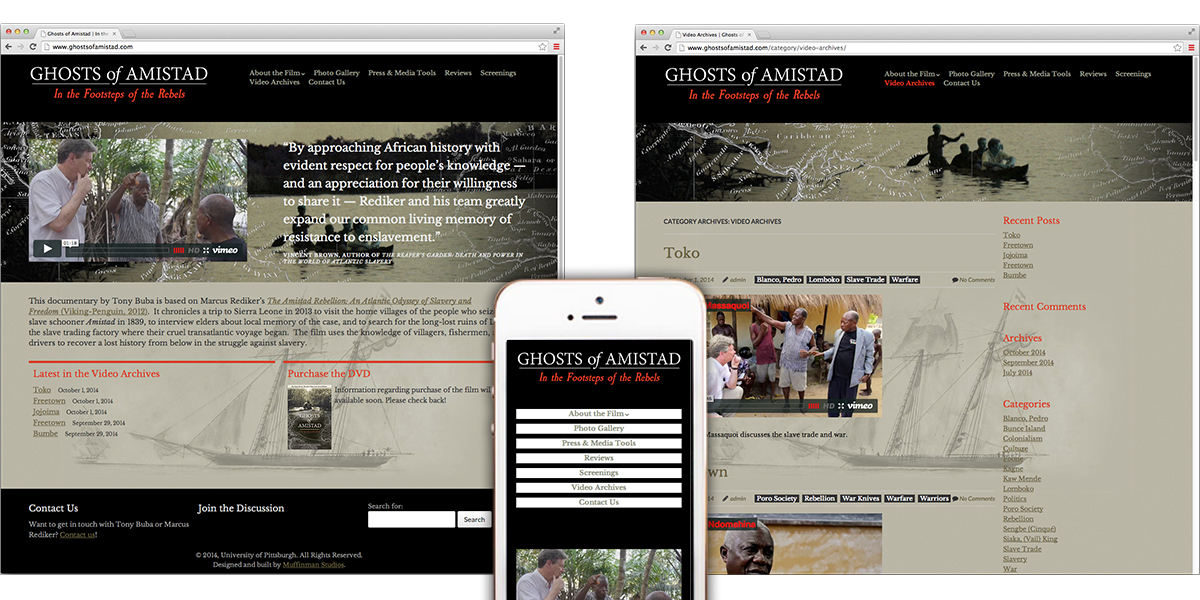 Ghosts of Amistad website