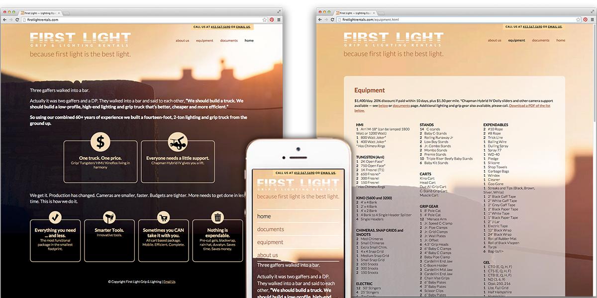 First Light Website