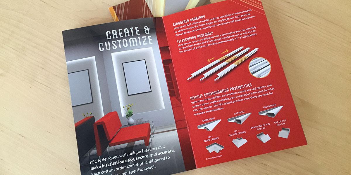 Forum Lighting Klean Edge Cove brochure by Muffinman Studios