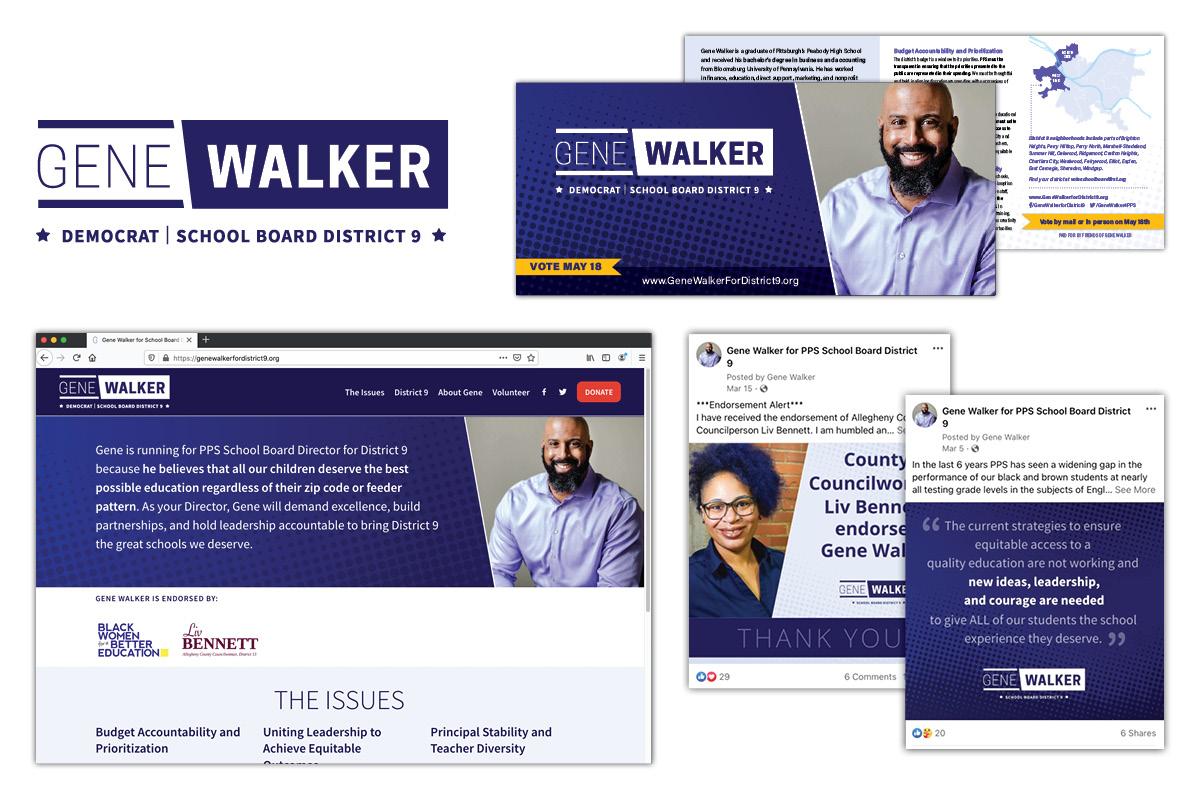 Gene Walker for School Board Campaign by Muffinman Studios