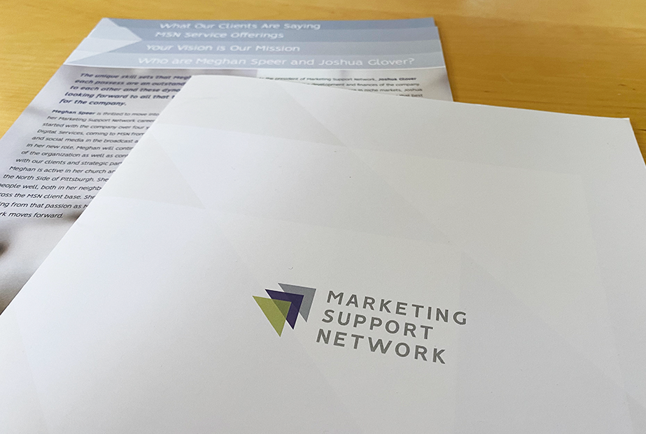 Marketing Support Network Press Packet by Muffinman Studios